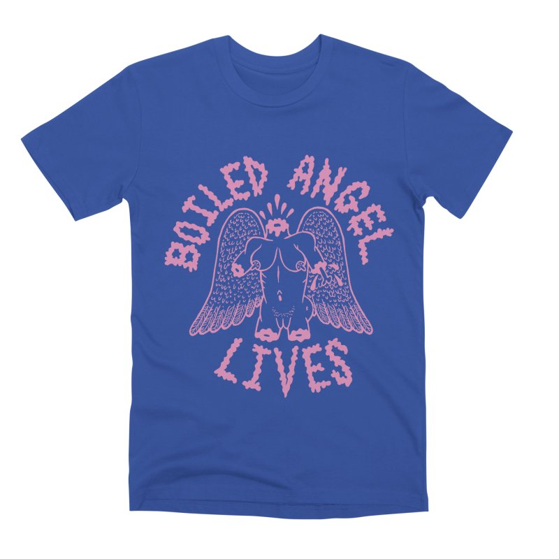 Mike Diana - BOILED ANGEL LIVES - Pink Men's Premium T-Shirt by Mike Diana T-Shirts Mugs and More!