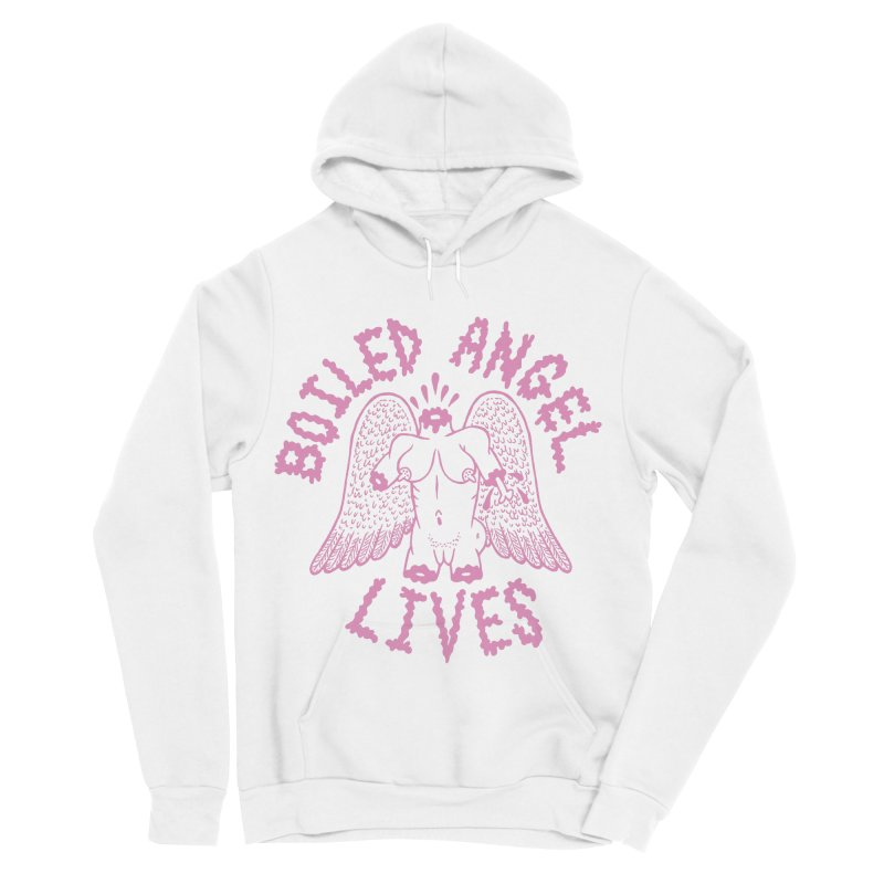 Mike Diana - BOILED ANGEL LIVES - Pink Women's Sponge Fleece Pullover Hoody by Mike Diana T-Shirts! Horrible Ugly Heads Limited E