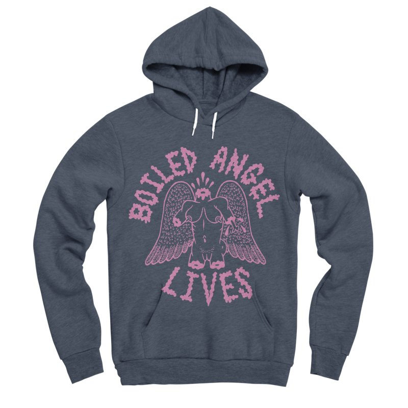 Mike Diana - BOILED ANGEL LIVES - Pink Men's Sponge Fleece Pullover Hoody by Mike Diana T-Shirts Mugs and More!