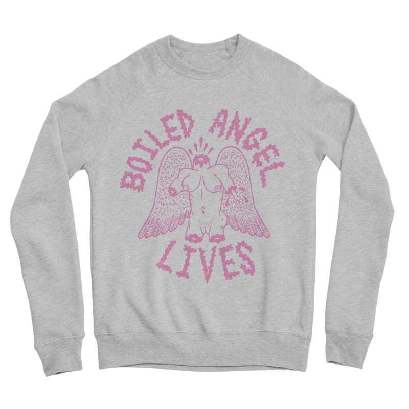 Mike Diana - BOILED ANGEL LIVES - Pink Women's Sponge Fleece Sweatshirt by Mike Diana T-Shirts Mugs and More!