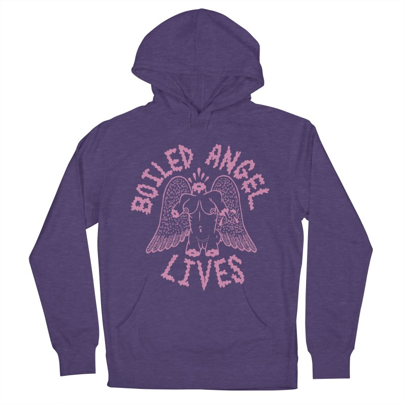Mike Diana - BOILED ANGEL LIVES - Pink Women's French Terry Pullover Hoody by Mike Diana T-Shirts Mugs and More!