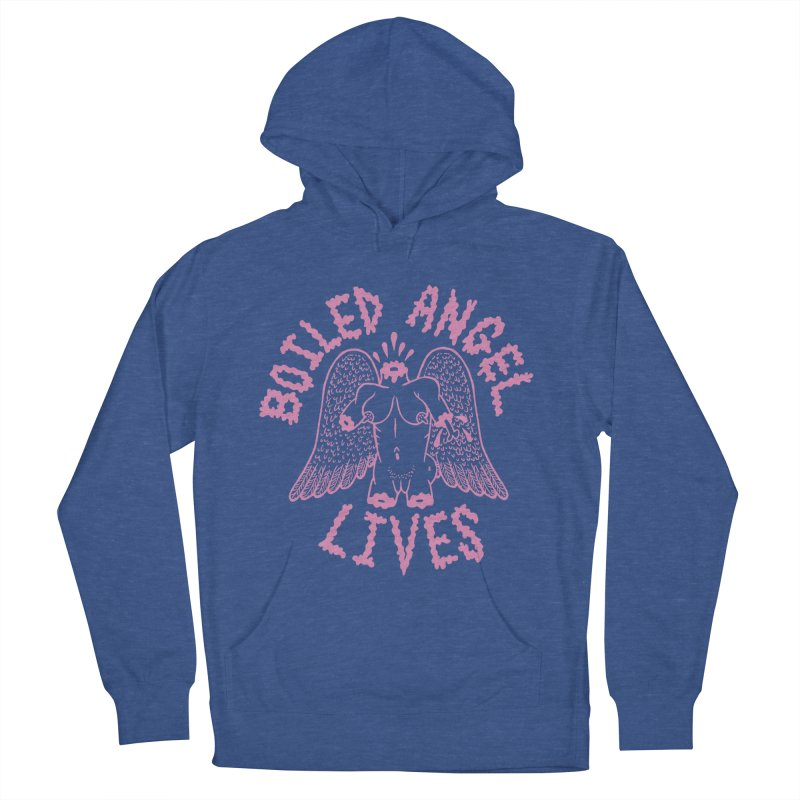 Mike Diana - BOILED ANGEL LIVES - Pink Men's French Terry Pullover Hoody by Mike Diana T-Shirts! Horrible Ugly Heads Limited E