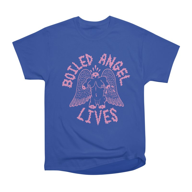 Mike Diana - BOILED ANGEL LIVES - Pink Men's Heavyweight T-Shirt by Mike Diana T-Shirts! Horrible Ugly Heads Limited E
