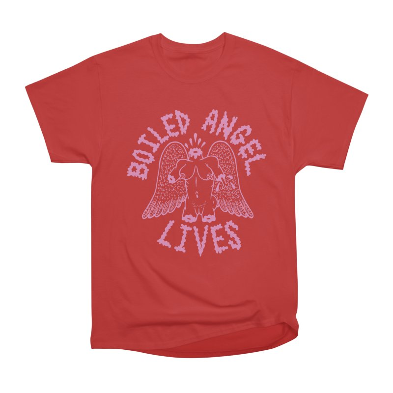 Mike Diana - BOILED ANGEL LIVES - Pink Women's Heavyweight Unisex T-Shirt by Mike Diana T-Shirts Mugs and More!