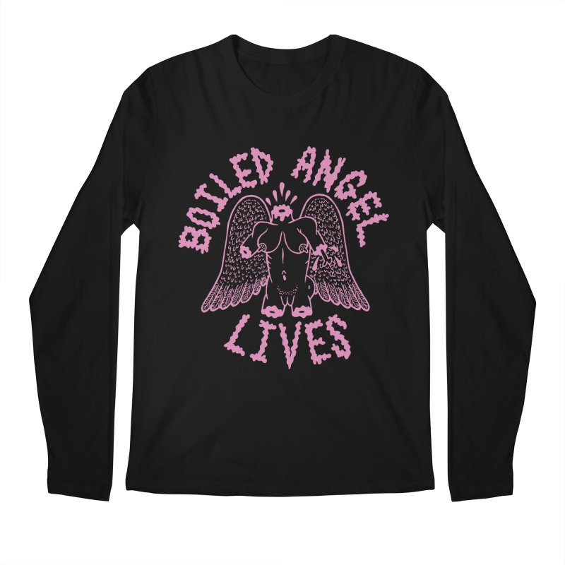 Mike Diana - BOILED ANGEL LIVES - Pink Men's Regular Longsleeve T-Shirt by Mike Diana T-Shirts Mugs and More!