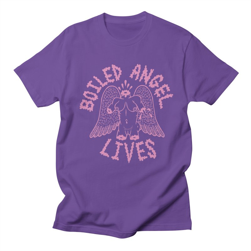 Mike Diana - BOILED ANGEL LIVES - Pink Women's Regular Unisex T-Shirt by Mike Diana T-Shirts Mugs and More!