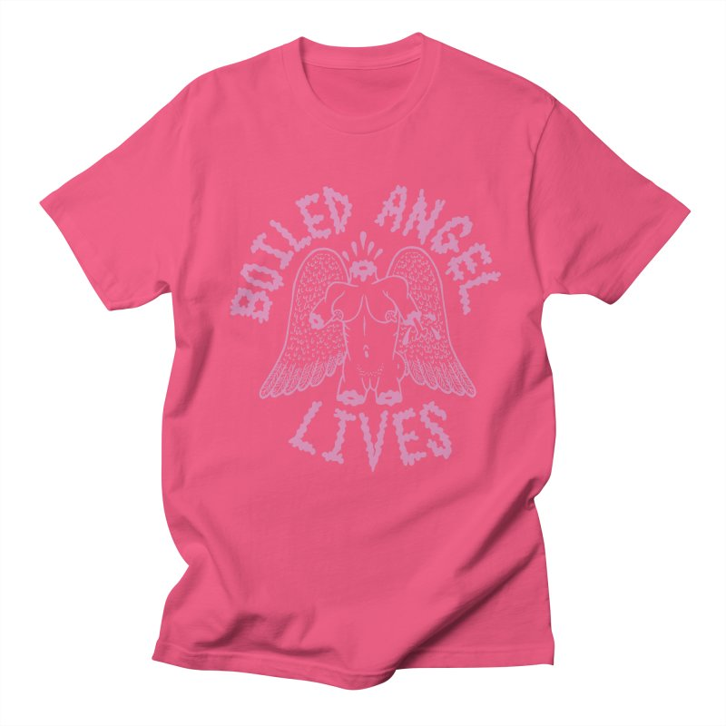 Mike Diana - BOILED ANGEL LIVES - Pink Men's Regular T-Shirt by Mike Diana T-Shirts Mugs and More!