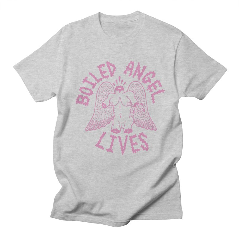 Mike Diana - BOILED ANGEL LIVES - Pink Men's Regular T-Shirt by Mike Diana T-Shirts! Horrible Ugly Heads Limited E