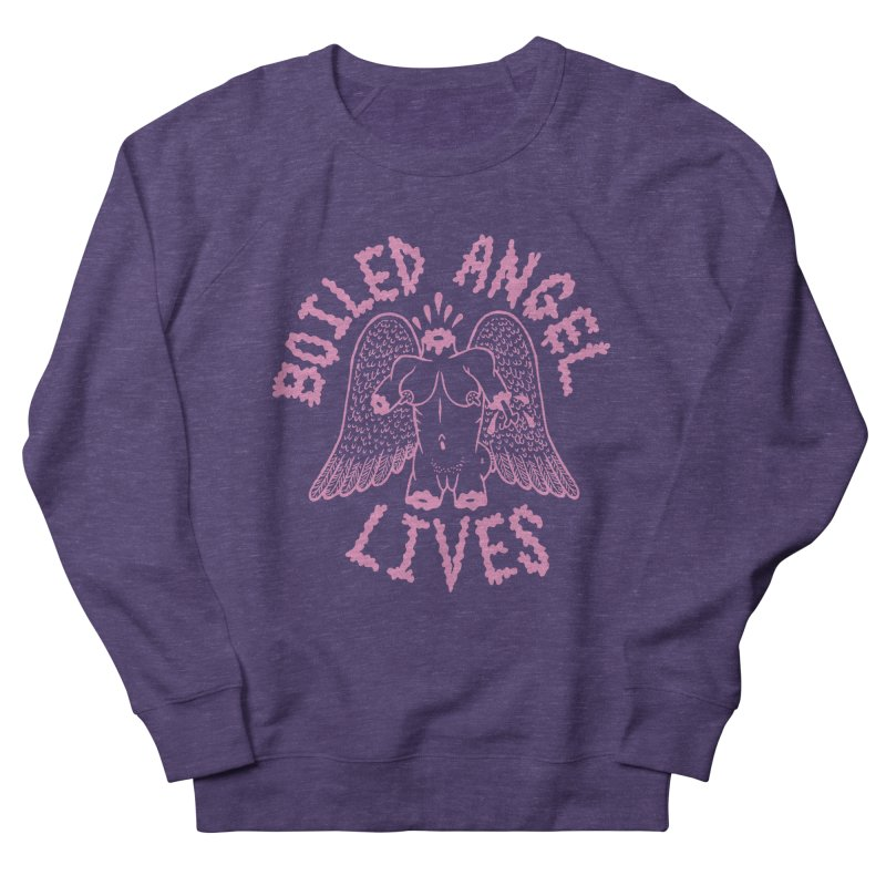 Mike Diana - BOILED ANGEL LIVES - Pink Men's French Terry Sweatshirt by Mike Diana T-Shirts! Horrible Ugly Heads Limited E