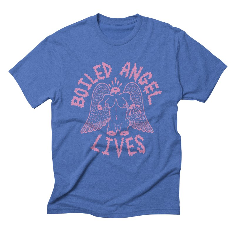 Mike Diana - BOILED ANGEL LIVES - Pink Men's Triblend T-Shirt by Mike Diana T-Shirts Mugs and More!
