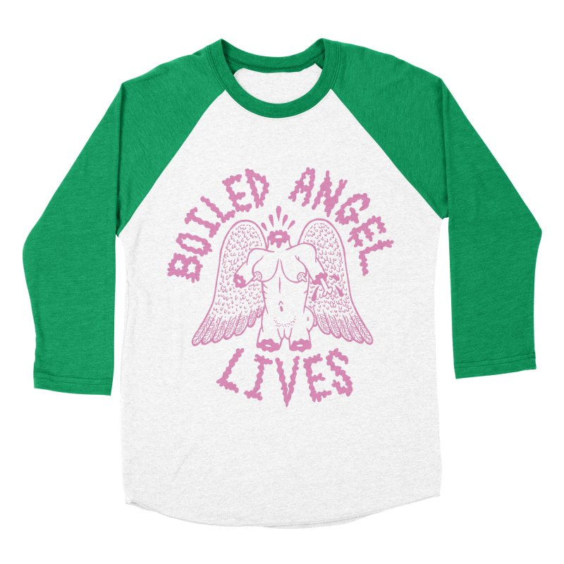 Mike Diana - BOILED ANGEL LIVES - Pink Women's Baseball Triblend Longsleeve T-Shirt by Mike Diana T-Shirts Mugs and More!