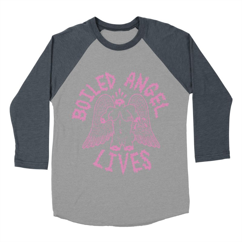 Mike Diana - BOILED ANGEL LIVES - Pink Men's Baseball Triblend Longsleeve T-Shirt by Mike Diana T-Shirts Mugs and More!