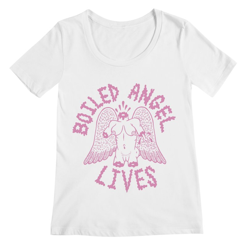 Mike Diana - BOILED ANGEL LIVES - Pink Women's Regular Scoop Neck by Mike Diana T-Shirts Mugs and More!