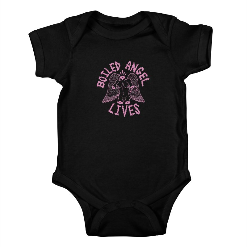 Mike Diana - BOILED ANGEL LIVES - Pink Kids Baby Bodysuit by Mike Diana T-Shirts Mugs and More!