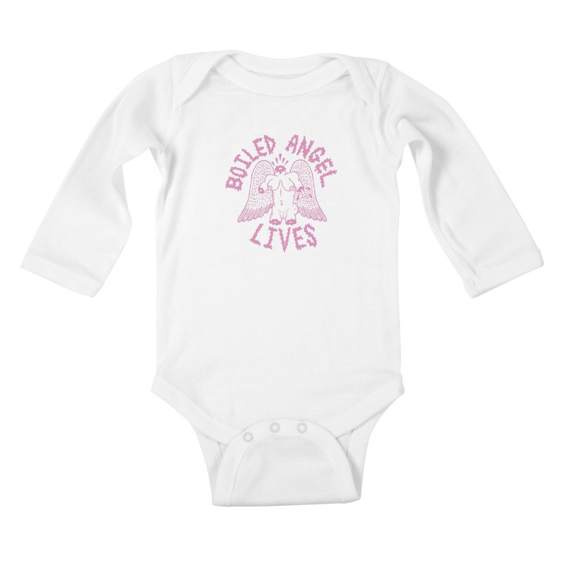 Mike Diana - BOILED ANGEL LIVES - Pink Kids Baby Longsleeve Bodysuit by Mike Diana T-Shirts Mugs and More!