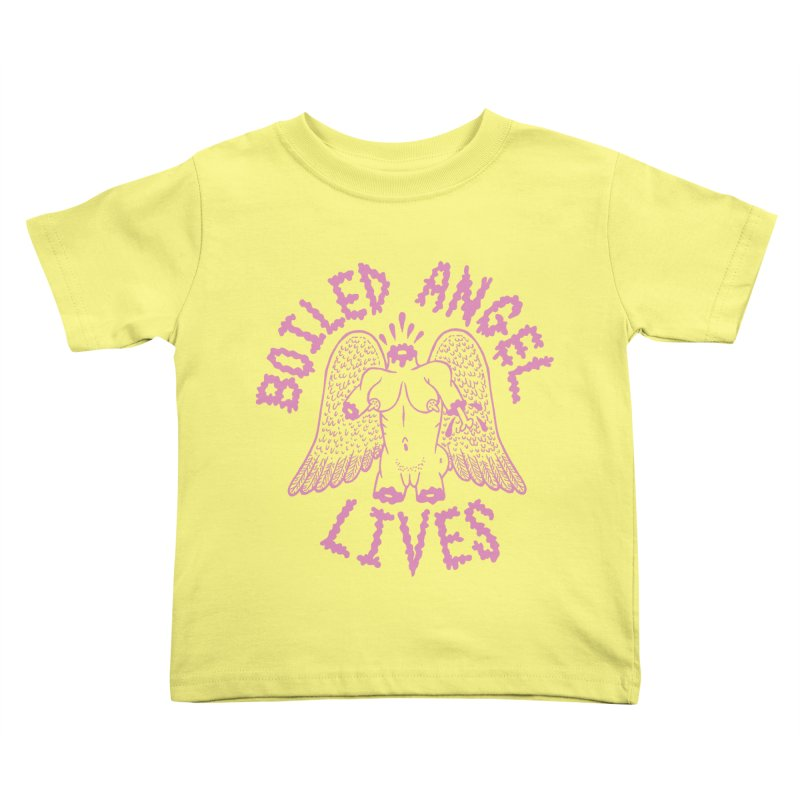 Mike Diana - BOILED ANGEL LIVES - Pink Kids Toddler T-Shirt by Mike Diana T-Shirts Mugs and More!
