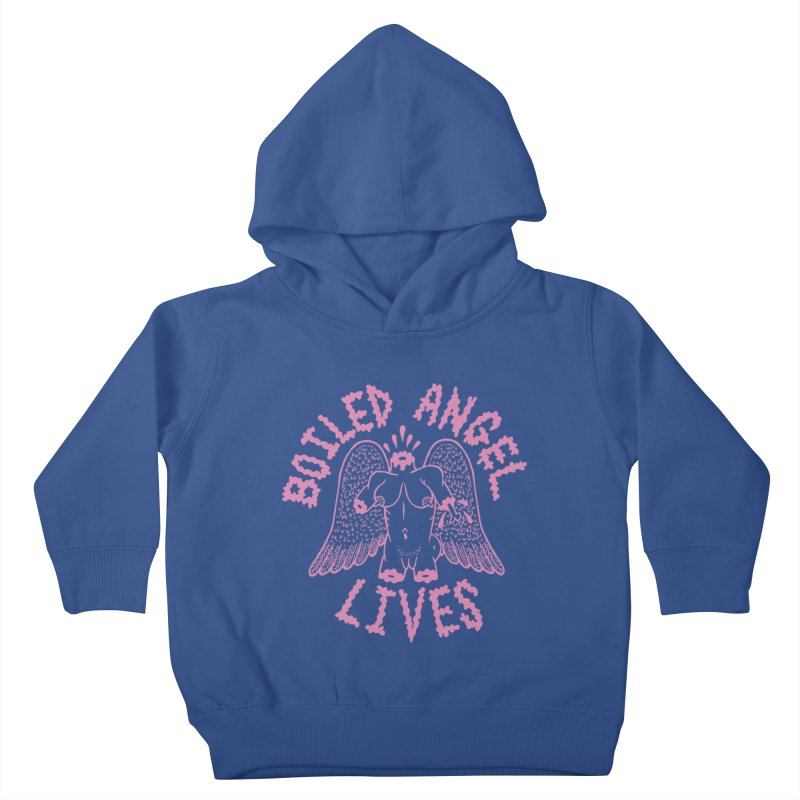 Mike Diana - BOILED ANGEL LIVES - Pink Kids Toddler Pullover Hoody by Mike Diana T-Shirts! Horrible Ugly Heads Limited E