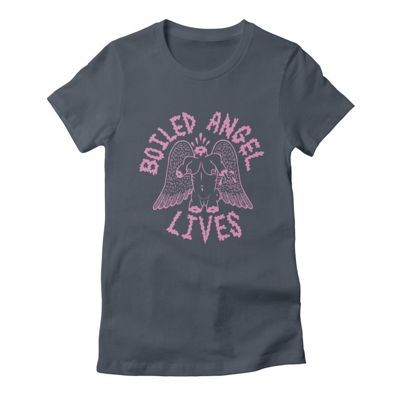 Mike Diana - BOILED ANGEL LIVES - Pink Women's Fitted T-Shirt by Mike Diana T-Shirts Mugs and More!