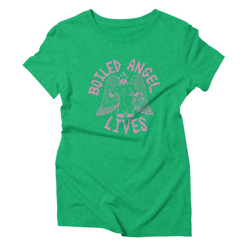 Mike Diana - BOILED ANGEL LIVES - Pink Women's Triblend T-Shirt by Mike Diana T-Shirts! Horrible Ugly Heads Limited E
