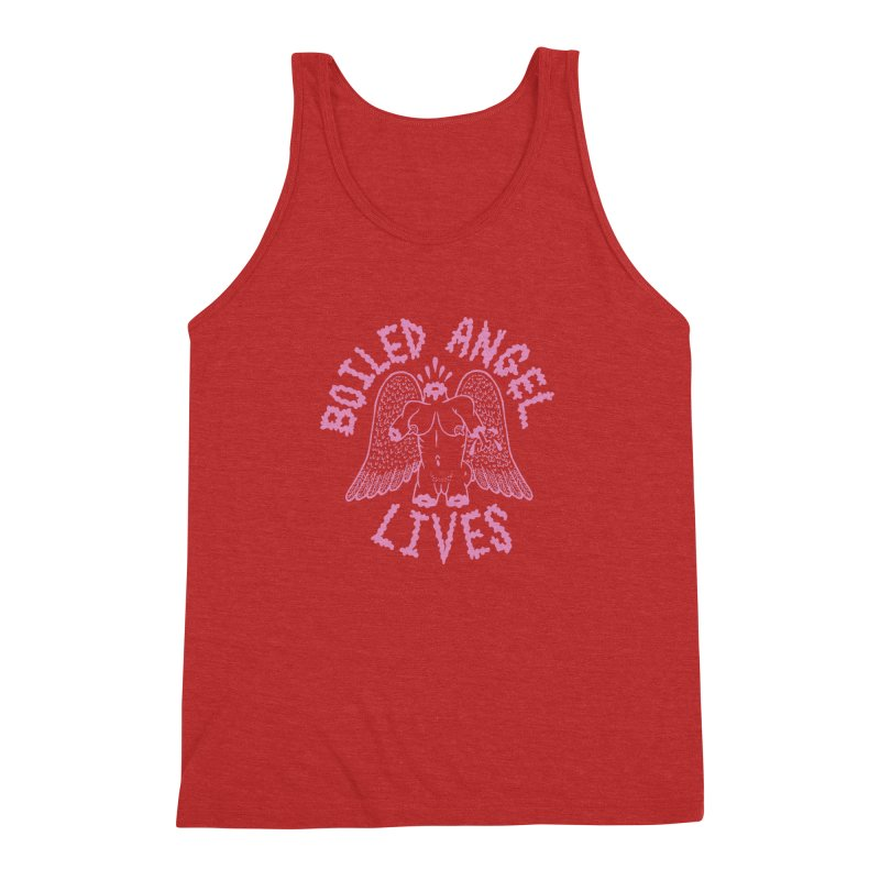 Mike Diana - BOILED ANGEL LIVES - Pink Men's Triblend Tank by Mike Diana T-Shirts Mugs and More!