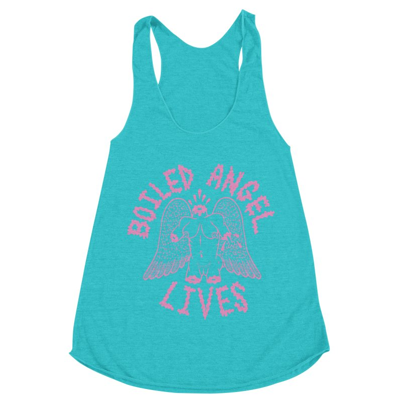 Mike Diana - BOILED ANGEL LIVES - Pink Women's Racerback Triblend Tank by Mike Diana T-Shirts Mugs and More!