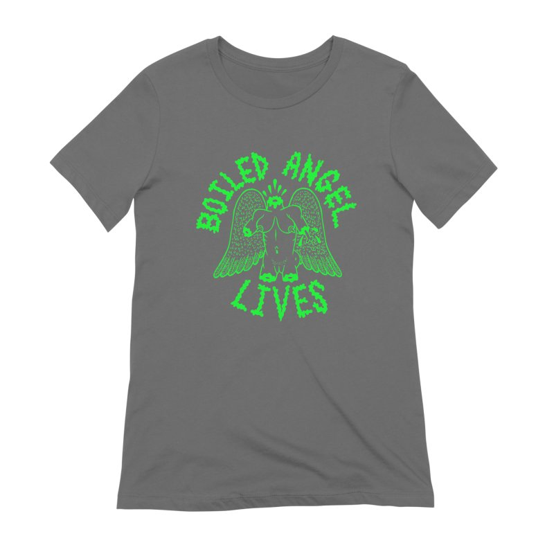 Mike Diana - BOILED ANGEL LIVES - Green Logo Women's T-Shirt by Mike Diana T-Shirts Mugs and More!