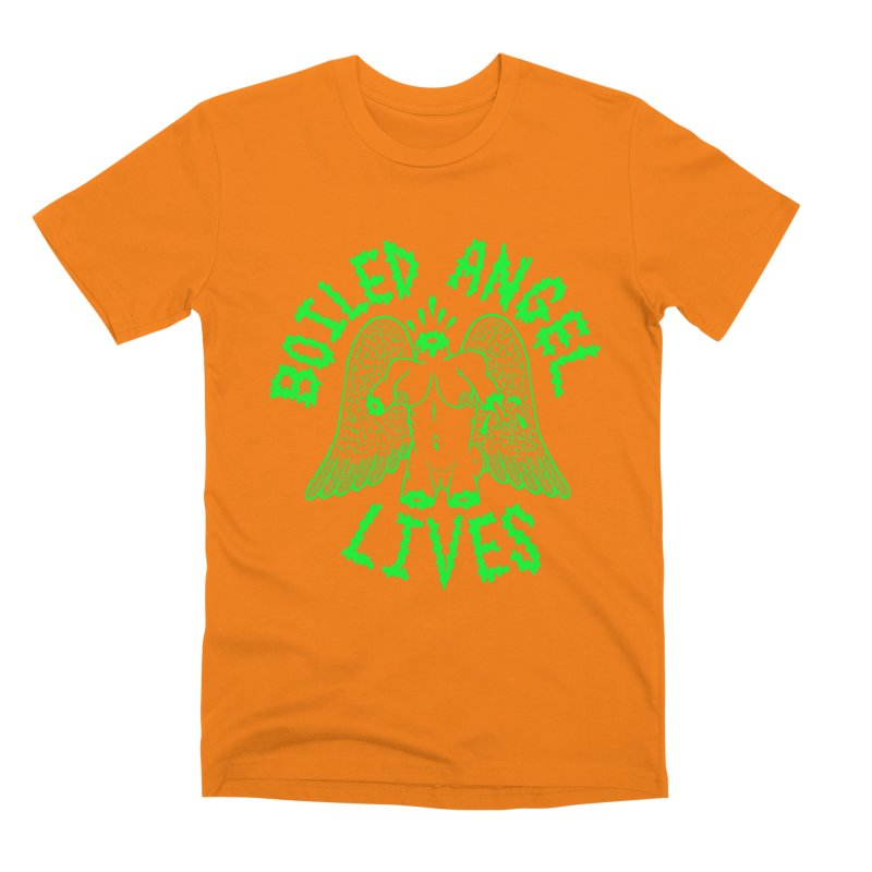 Mike Diana - BOILED ANGEL LIVES - Green Logo Men's T-Shirt by Mike Diana T-Shirts Mugs and More!