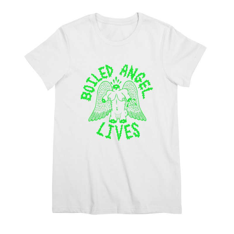 Mike Diana - BOILED ANGEL LIVES - Green Logo Women's Premium T-Shirt by Mike Diana T-Shirts Mugs and More!