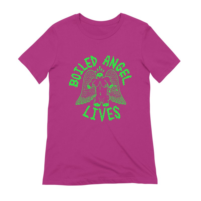 Mike Diana - BOILED ANGEL LIVES - Green Logo Women's Extra Soft T-Shirt by Mike Diana T-Shirts Mugs and More!