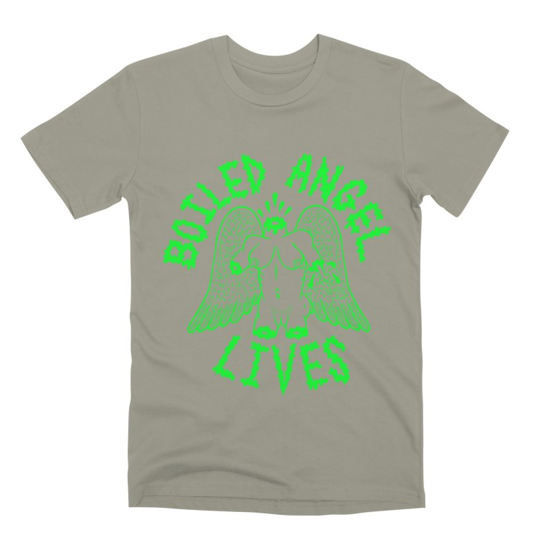 Mike Diana - BOILED ANGEL LIVES - Green Logo Men's Premium T-Shirt by Mike Diana T-Shirts Mugs and More!