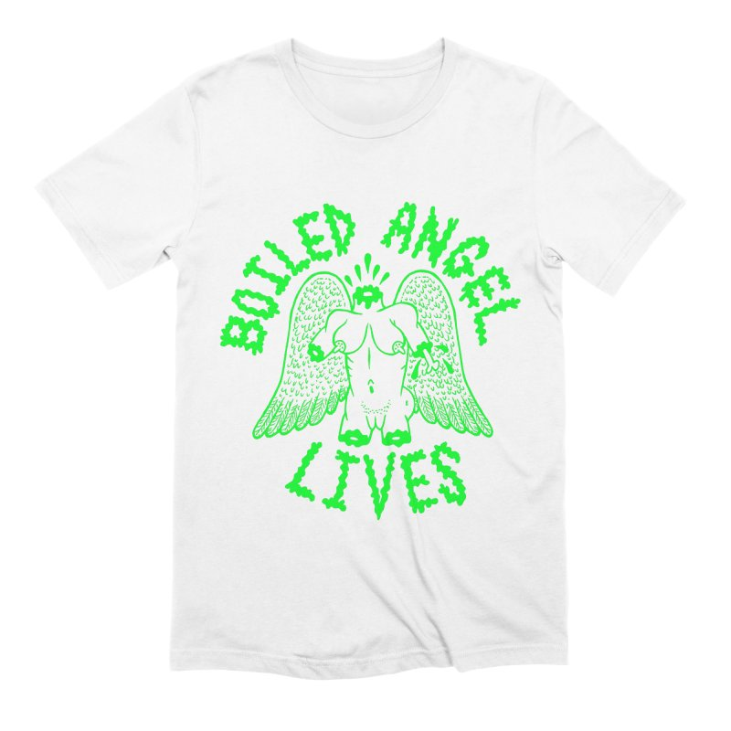 Mike Diana - BOILED ANGEL LIVES - Green Logo Men's Extra Soft T-Shirt by Mike Diana T-Shirts Mugs and More!