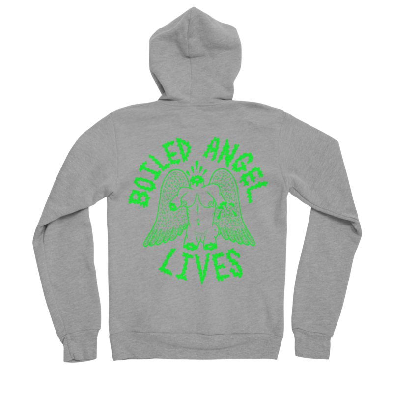 Mike Diana - BOILED ANGEL LIVES - Green Logo Men's Sponge Fleece Zip-Up Hoody by Mike Diana T-Shirts Mugs and More!
