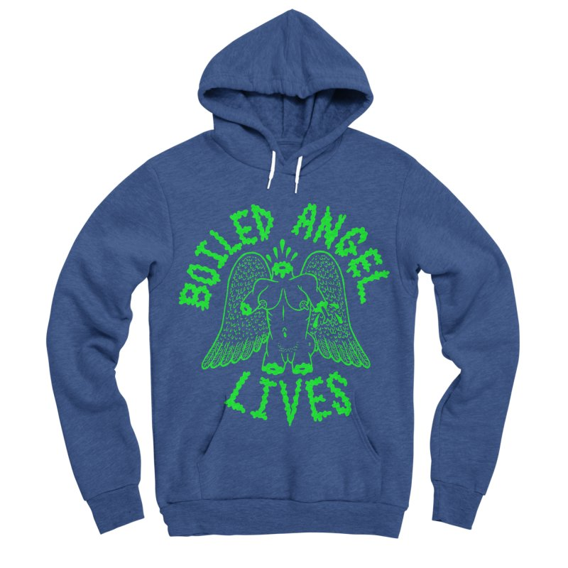 Mike Diana - BOILED ANGEL LIVES - Green Logo Men's Sponge Fleece Pullover Hoody by Mike Diana T-Shirts Mugs and More!