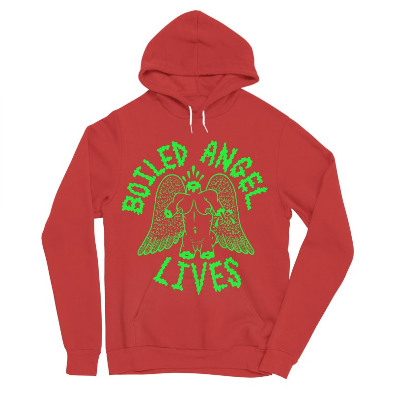 Mike Diana - BOILED ANGEL LIVES - Green Logo Women's Pullover Hoody by Mike Diana T-Shirts Mugs and More!