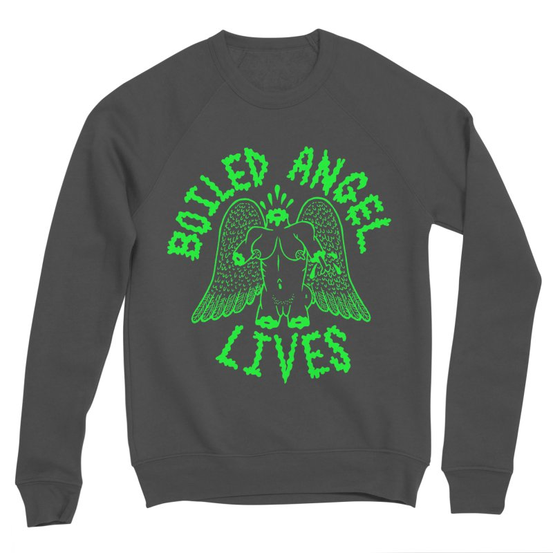 Mike Diana - BOILED ANGEL LIVES - Green Logo Women's Sponge Fleece Sweatshirt by Mike Diana T-Shirts! Horrible Ugly Heads Limited E