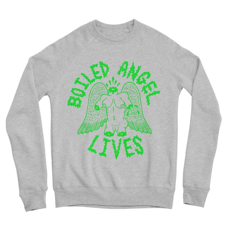 Mike Diana - BOILED ANGEL LIVES - Green Logo Men's Sponge Fleece Sweatshirt by Mike Diana T-Shirts Mugs and More!