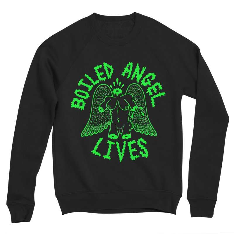 Mike Diana - BOILED ANGEL LIVES - Green Logo Women's Sponge Fleece Sweatshirt by Mike Diana T-Shirts Mugs and More!