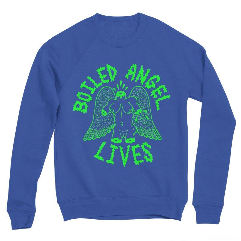 Mike Diana - BOILED ANGEL LIVES - Green Logo Men's Sponge Fleece Sweatshirt by Mike Diana T-Shirts! Horrible Ugly Heads Limited E