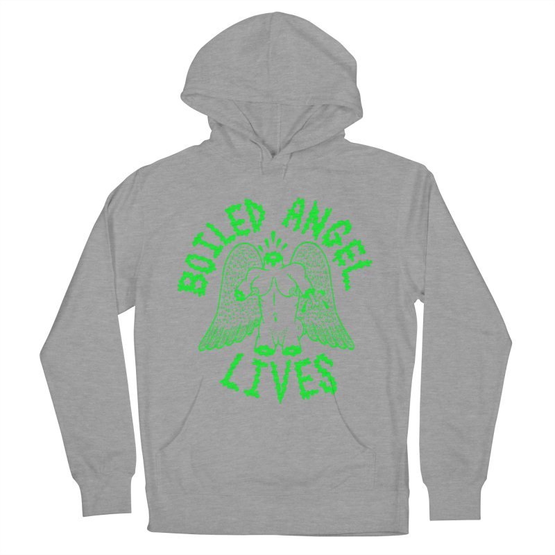 Mike Diana - BOILED ANGEL LIVES - Green Logo Men's French Terry Pullover Hoody by Mike Diana T-Shirts Mugs and More!