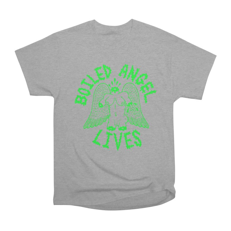 Mike Diana - BOILED ANGEL LIVES - Green Logo Men's Heavyweight T-Shirt by Mike Diana T-Shirts Mugs and More!