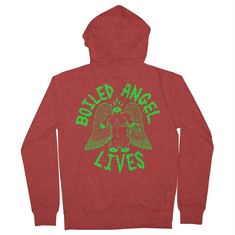 Mike Diana - BOILED ANGEL LIVES - Green Logo Women's French Terry Zip-Up Hoody by Mike Diana T-Shirts Mugs and More!