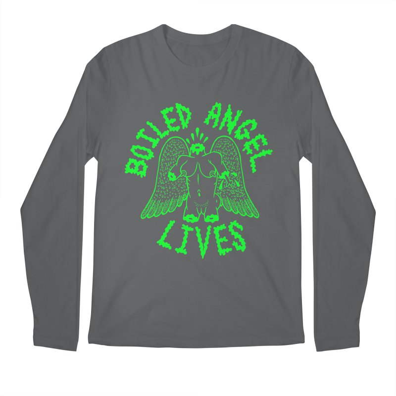 Mike Diana - BOILED ANGEL LIVES - Green Logo Men's Regular Longsleeve T-Shirt by Mike Diana T-Shirts Mugs and More!
