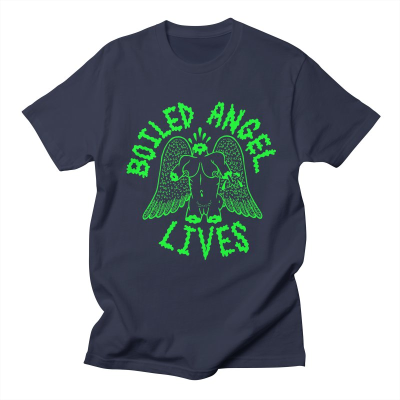 Mike Diana - BOILED ANGEL LIVES - Green Logo Men's Regular T-Shirt by Mike Diana T-Shirts Mugs and More!