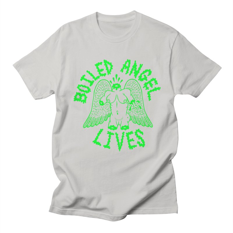 Mike Diana - BOILED ANGEL LIVES - Green Logo Men's Regular T-Shirt by Mike Diana T-Shirts! Horrible Ugly Heads Limited E