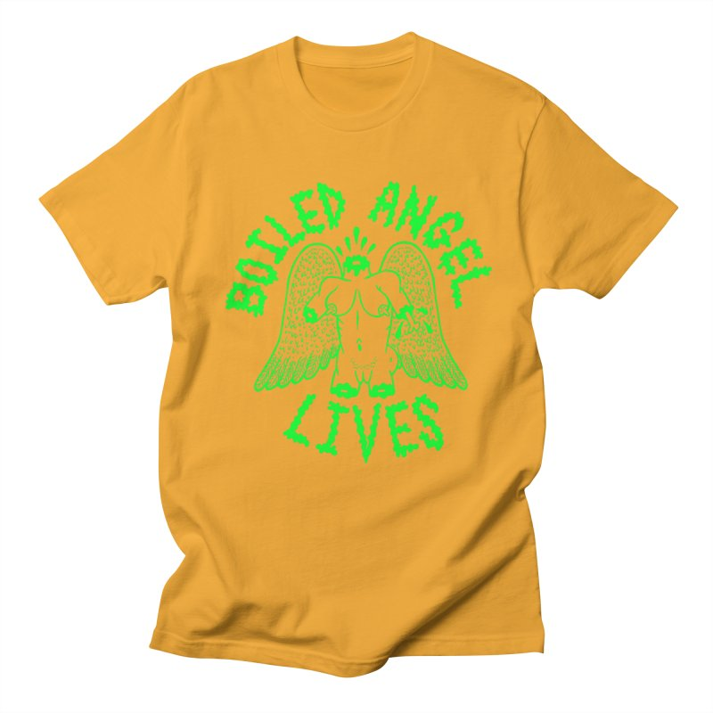 Mike Diana - BOILED ANGEL LIVES - Green Logo Women's Regular Unisex T-Shirt by Mike Diana T-Shirts! Horrible Ugly Heads Limited E