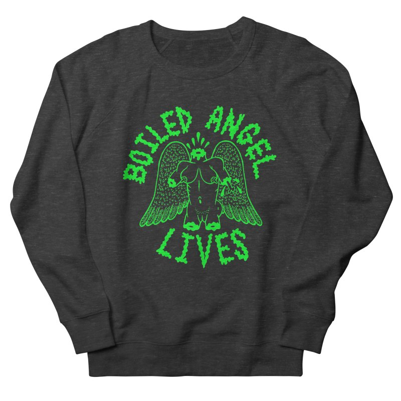Mike Diana - BOILED ANGEL LIVES - Green Logo Men's French Terry Sweatshirt by Mike Diana T-Shirts Mugs and More!