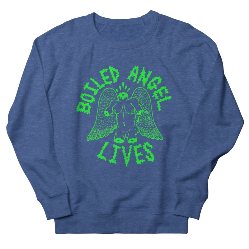 Mike Diana - BOILED ANGEL LIVES - Green Logo Men's French Terry Sweatshirt by Mike Diana T-Shirts! Horrible Ugly Heads Limited E
