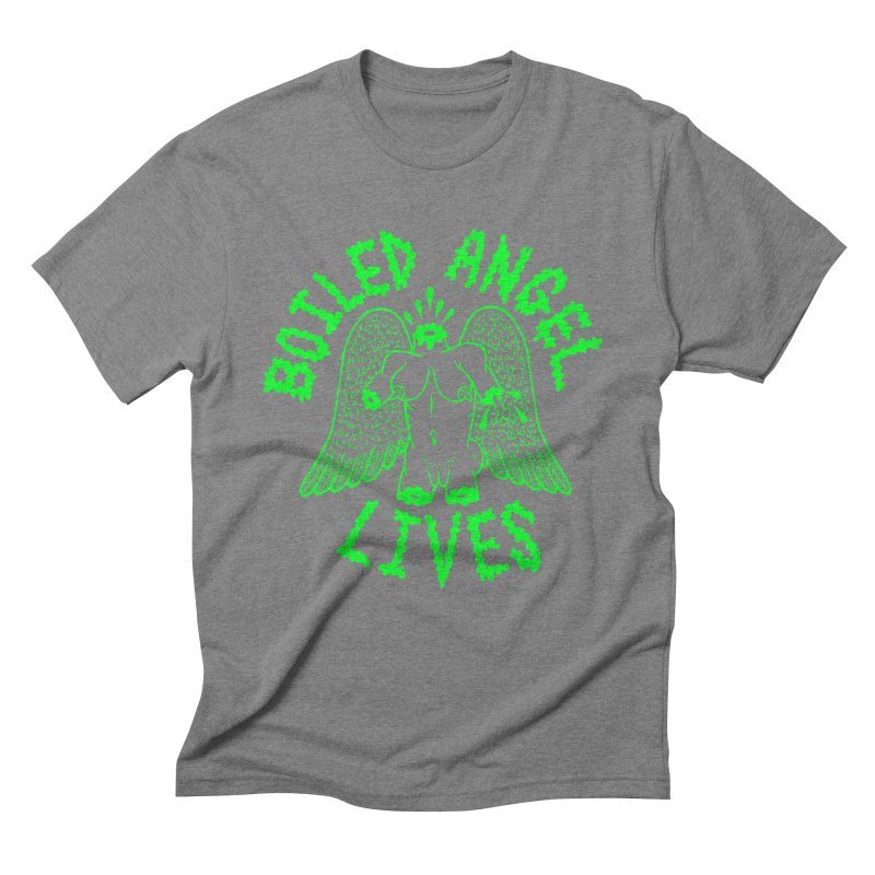 Mike Diana - BOILED ANGEL LIVES - Green Logo Men's Triblend T-Shirt by Mike Diana T-Shirts Mugs and More!