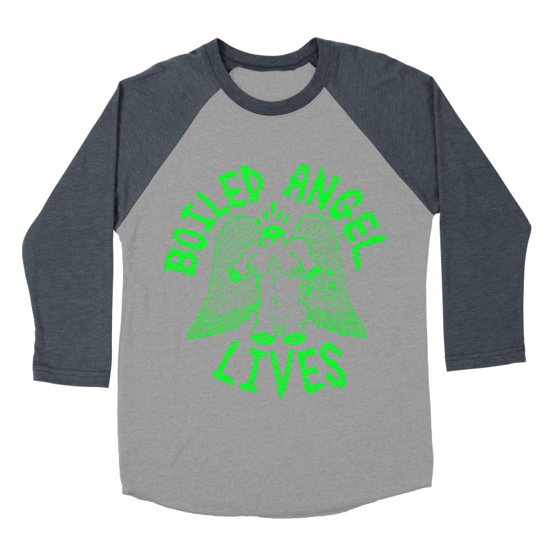 Mike Diana - BOILED ANGEL LIVES - Green Logo Women's Baseball Triblend Longsleeve T-Shirt by Mike Diana T-Shirts Mugs and More!