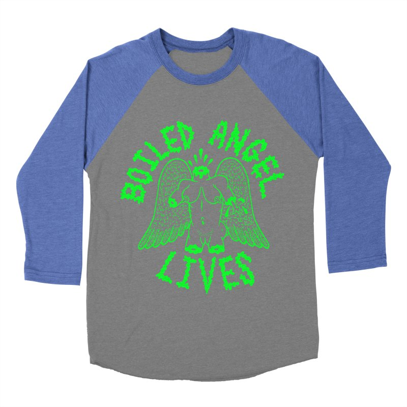 Mike Diana - BOILED ANGEL LIVES - Green Logo Men's Baseball Triblend Longsleeve T-Shirt by Mike Diana T-Shirts Mugs and More!